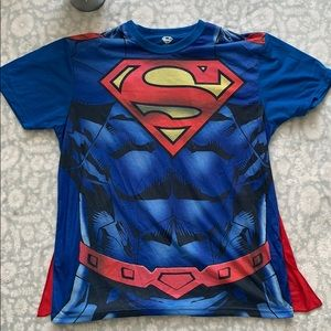 Superman Tee with Velcro Cape